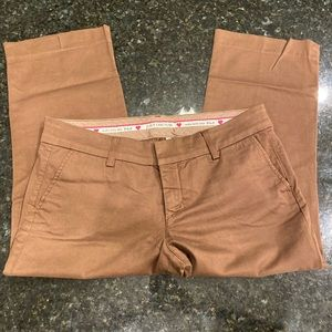 NWOT Juicy Couture 8 Brown Flat Front Khakis